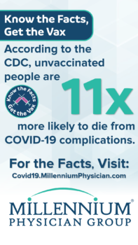 According to the CDC, unvaccinated people are 11 times more likely to die from COVID-19 complications.